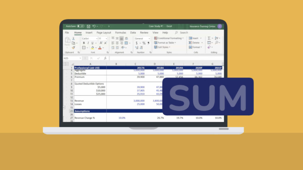 5 fast ways to sum in Excel