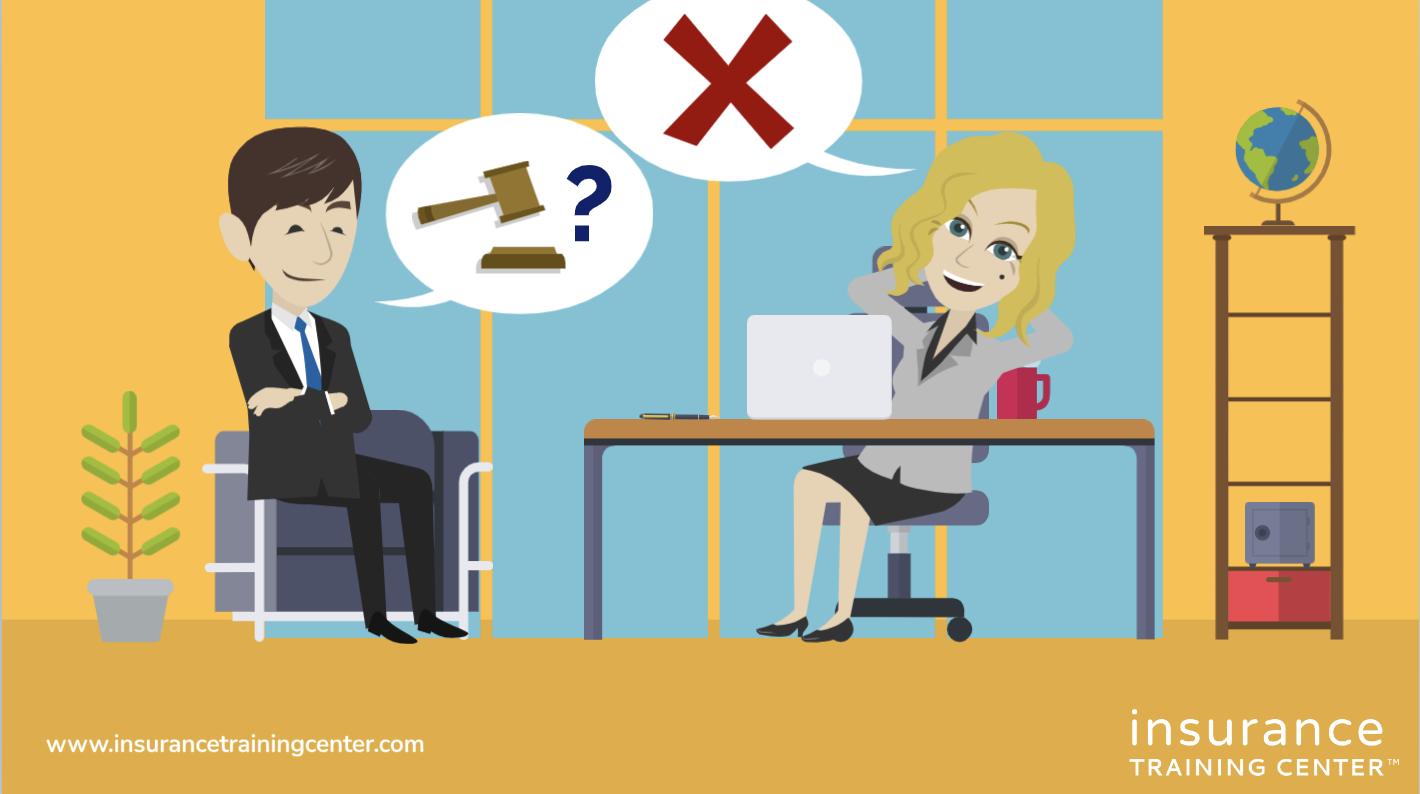 Management discussing lawsuit risk